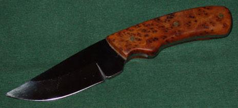 Thuya Burl Knife Handle
